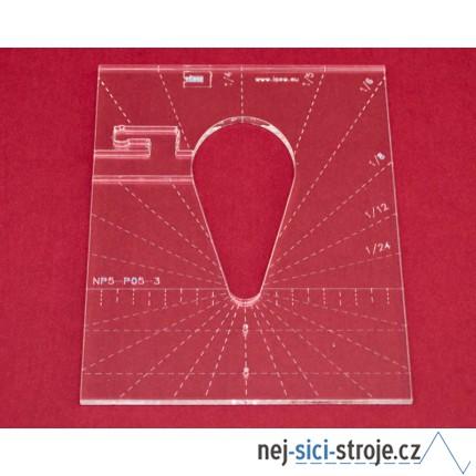 Quiltovací pravítko tvar kapka 3 inch NP5-P05-3 (5 mm)