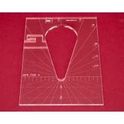 Quiltovací pravítko tvar kapka 4 inch NP5-P05-4 (5 mm)
