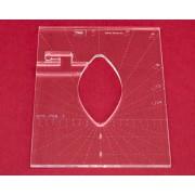Quiltovací pravítko tvar list 3 inch NP5-P06-3 (5 mm)