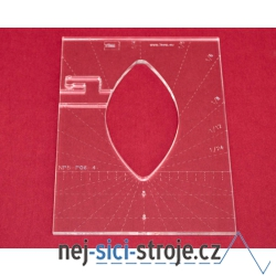 Quiltovací pravítko tvar list 4 inch NP5-P06-4 (5 mm)