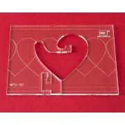 Quiltovací pravítko bordura srdce NP5-S2 (5 mm)