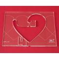 Quiltovací pravítko bordura srdce NP5-S4 (5 mm)