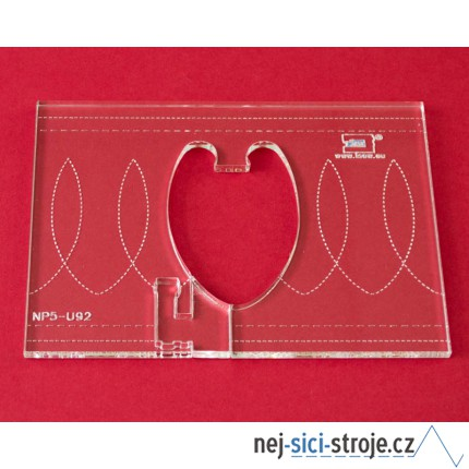 Quiltovací pravítko bordura smyčky NP5-U92 (5 mm)