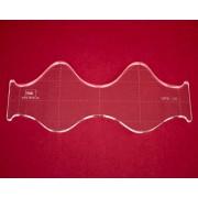 Quiltovací pravítko vlnky NP5-V2 (5 mm)