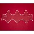 Quiltovací pravítko vlnky NP5-V3 (5 mm)