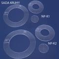 Sada quiltovacích pravítek kruhy - 6 ks