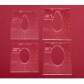 Sada quiltovacích pravítek ovál, pero - 4 ks (5 mm)