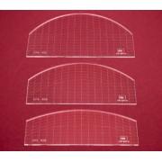 Sada quiltovacích pravítek oblouk - 3 ks (5 mm)