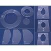 Pravítka pro domácí stroje - výška 3 mm
