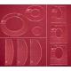 Pravítka pro quiltovací stroje - výška 5 mm