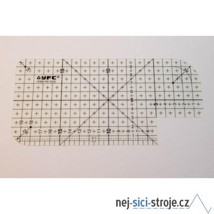 Zažehlovací pravítko 10x20 cm