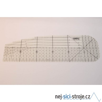 Zažehlovací pravítko 10x30 cm