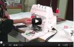 video návod ukázka Coverlock a overlock Bernina 1300 MDC