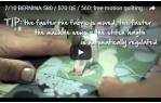 video návod ukázka Šicí a vyšívací stroj Bernina 560