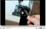 video návod ukázka Overlock Brother M 1034