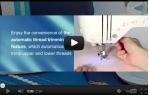 video návod ukázka Šicí stroj Brother INNOV NV 550