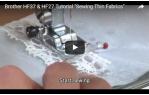 video návod ukázka Šicí stroj Brother HF 37
