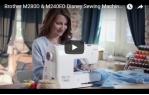 video návod ukázka Šicí a vyšívací stroj Brother M280D