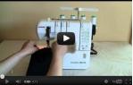 video návod ukázka Janome 1000 CPX Cover PRO - coverlock