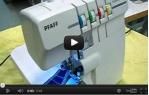 video návod ukázka Šicí stroj Pfaff HOBBY 2.0, overlock