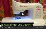 video návod ukázka Šicí stroj Singer One