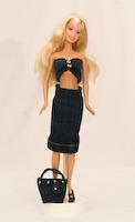 Riflová sukně a top