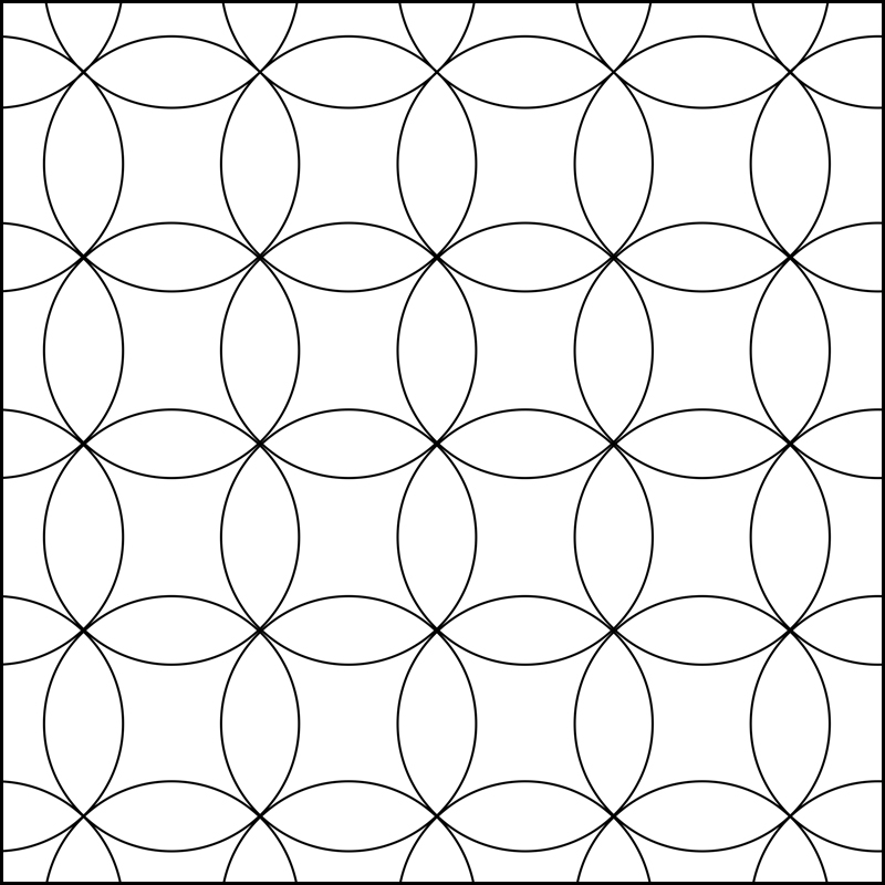 Quiltovací pravítko kruhy NP-K6