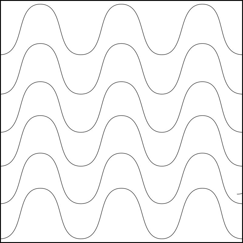 Quiltovací pravítko vlnky